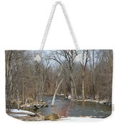 Water And Snow Weekender Tote Bag