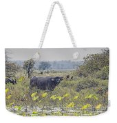 Water Buffaloes At Corroboree Billabong Weekender Tote Bag