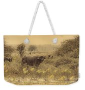 Water Buffaloes At Corroboree Billabong V2 Weekender Tote Bag
