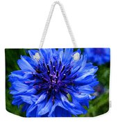 Water Color Bachelor's Button Weekender Tote Bag