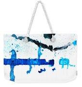 Water Dance - Blue And White Art By Sharon Cummings Weekender Tote Bag