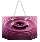 Water Drip Ripples Weekender Tote Bag