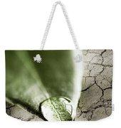 Water Drop On Green Leaf Weekender Tote Bag
