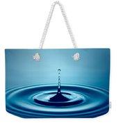 Water Drop Splash Weekender Tote Bag by Johan Swanepoel