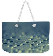 Water Droplets Close-up View On Plastic Chair Weekender Tote Bag