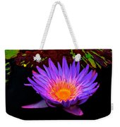 Water Droplets On Lily Weekender Tote Bag