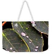 Water Drops Leaves Weekender Tote Bag