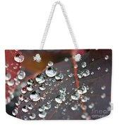 Water Drops On Cotinus Weekender Tote Bag