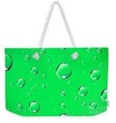 Water Drops On Green Weekender Tote Bag