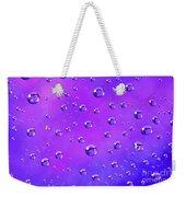 Water Drops On Purple And Blue Weekender Tote Bag
