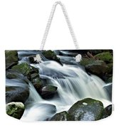 Water Flowsthrough The Mountains Weekender Tote Bag