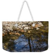 Water Leaves Stones And Branches Weekender Tote Bag