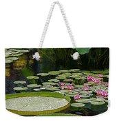 Water Lilies And Platters And Lotus Leaves Weekender Tote Bag