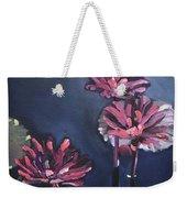 Water Lilies At Sunset Weekender Tote Bag
