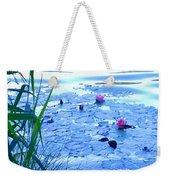 Water Lilies Blue Weekender Tote Bag