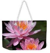 Water Lilies Love The Sun Weekender Tote Bag by Sabrina L Ryan