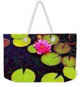 Water Lilies With Pink Flowers - Vertical Weekender Tote Bag