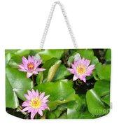Water Lilies 3 Weekender Tote Bag