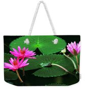 Water Lillies In Pink Weekender Tote Bag