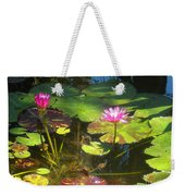 Water Lilly Garden Weekender Tote Bag