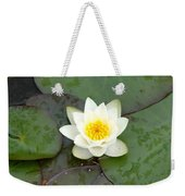Water Lily - White Weekender Tote Bag