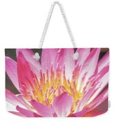 Pink Water Lily Beauty Weekender Tote Bag