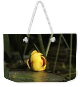 Water Lily Bud Weekender Tote Bag