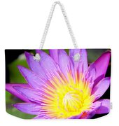 Water Lily In Purple Weekender Tote Bag