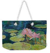 Water Lily In The Morning Weekender Tote Bag
