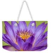 Water Lily Lindsey Woods Macro Weekender Tote Bag
