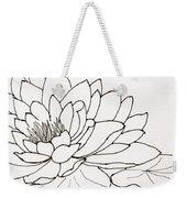 Water Lily Line Drawing Weekender Tote Bag