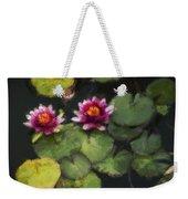 Water Lily Neo Weekender Tote Bag