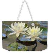 Water Lily Pair Weekender Tote Bag