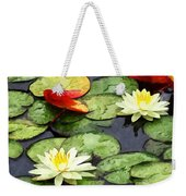 Water Lily Pond In Autumn Weekender Tote Bag