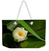 Water Lily Reflection Weekender Tote Bag