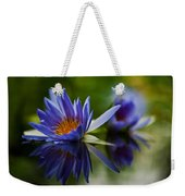 Water Lily Reflections Weekender Tote Bag