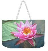 Water Lily Weekender Tote Bag by Sandi OReilly
