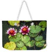 Water Lily Water Color Weekender Tote Bag