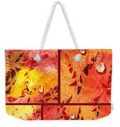 Water On Color Collage Eight Weekender Tote Bag