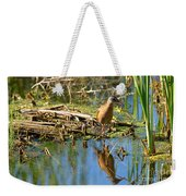 Water Rail Reflection Weekender Tote Bag