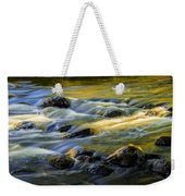 Beautiful Water Reflections On The Flowing Thornapple River Weekender Tote Bag