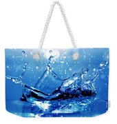 Water Splash Weekender Tote Bag by Michal Bednarek