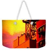 Water Tower With Orange Sunset Weekender Tote Bag