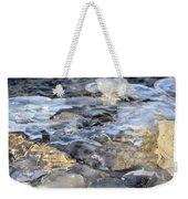 Water Under Ice Weekender Tote Bag
