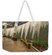 Water Wall - Aria Resort Las Vegas Weekender Tote Bag