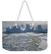 Water Worn Iceberg In Sea Ice Lazarev Weekender Tote Bag