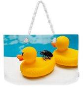 Waterbug Takes Yellow Taxi Weekender Tote Bag