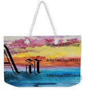 Watercolor A And Serenity Prayer Weekender Tote Bag