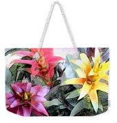 Watercolor And Ink Sketch Of Colorful Bromeliads Weekender Tote Bag