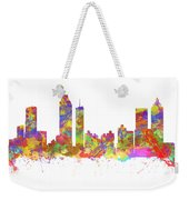 Watercolor Art Print Of The Skyline Of Atlanta Georgia Usa Weekender Tote Bag